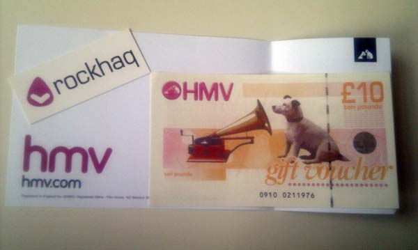 First HMV gift card winner announced