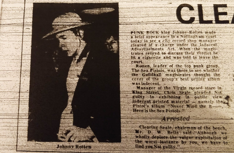 Retrospective: The Sex Pistols Indecency Trial, Nottingham, 24 November 1977