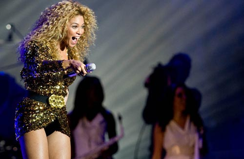 Beyonce at Glastonbury Festival 2011